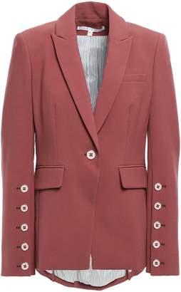 Veronica Beard Fogg Dickey Button-detailed Stretch-crepe Blazer