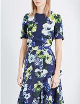 Erdem Floral-print silk-crepe top