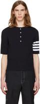 Thom Browne Navy Trompe Loeil Four Bar T-shirt