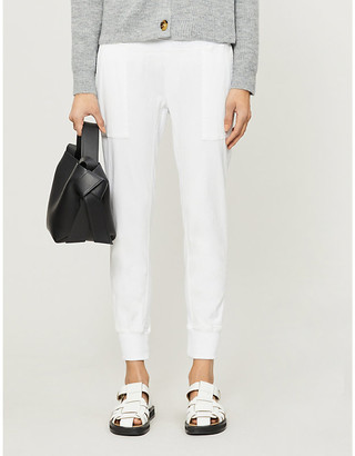 James Perse Tapered mid-rise cotton-twill jogging bottoms