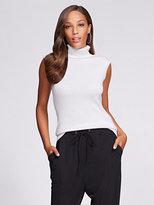 New York & Co. Gabrielle Union Collection - Sleeveless Turtleneck Sweater - White