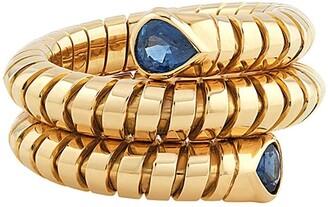 MARINA B 18kt yellow gold Trisola sapphire ring