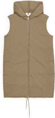 Arket Long Down Waistcoat