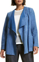 Marina Rinaldi Plus Size Etere Open-Front Waterfall Suede Jacket