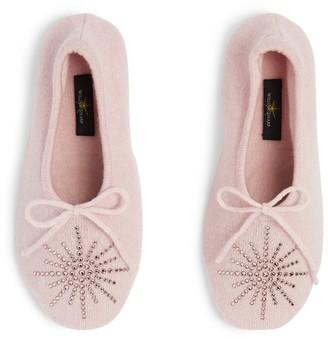 William Sharp Embellished Cashmere Slippers