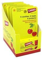 Carmex Click-Stick Moisturizing Lip Balm SPF 15 Cherry 0.15 oz (Pack of 12)