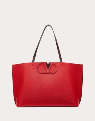 Valentino Small Fillme Tote Bag Women Pure Red/poudre 100% Lambskin OneSize
