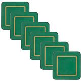 John Lewis Classic Coasters, Green, Set of 6