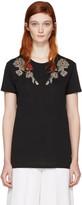 Alexander McQueen Black Flower T-shirt