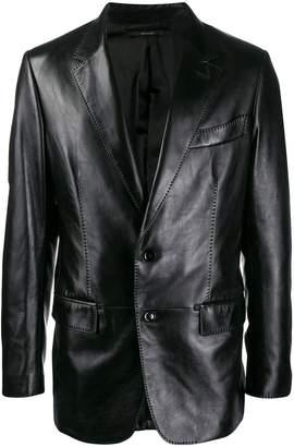Tom Ford leather blazer jacket