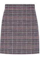 Hallhuber A-Line Skirt With Glen Check Patterning
