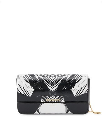 Burberry Deer-Print Chain-Strap Wallet
