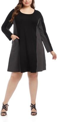 Karen Kane Colorblock Pocket Long Sleeve Dress
