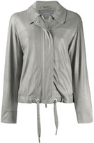 Lorena Antoniazzi fitted leather jacket
