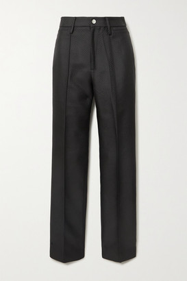 Rotate by Birger Christensen Robyn Jacquard Slim-leg Pants - Black