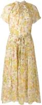 Zimmermann floral flared midi dress