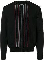 Lanvin stripe embroidered bomber jacket