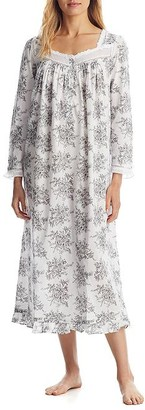 Eileen West Grey Toile Ballet Woven Night Gown