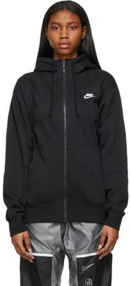 Nike Black Sportswear Club Zip-Up Hoodie