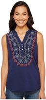 Roper 1140 Cotton Slub Jersey Tunic Women's Blouse