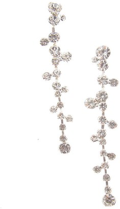 CRISTABELLE Round Crystal Cluster Linear Drop Earrings