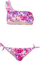 Emmanuela Swimwear - one shoulder floral bikini - women - Polyamide/Spandex/Elastane - M