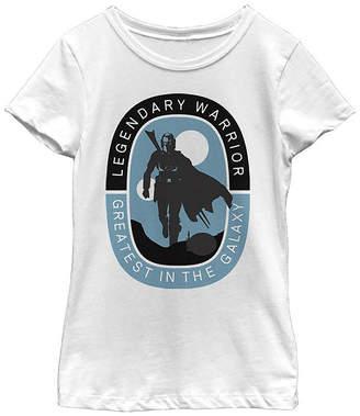 Fifth Sun Legendary Warrior Greatest In The Galaxy Girls Crew Neck Short Sleeve Star Wars Graphic T-Shirt - Big Kid