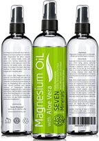 Alöe 12oz Magnesium Oil with VERA - LESS ITCHY - Made in USA - FREE eBook - SEE RESULTS OR - Best Cure for Restless Legs, Leg Cramps, Sore Muscles. Get Healthy Hair & Skin and Sleep Better!