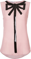 Moschino trompe l'oeil bow blouse