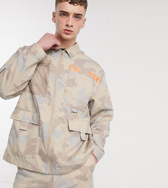 Collusion utility shacket in camo