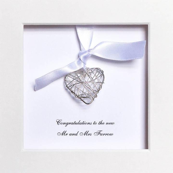 Twenty-Seven Personalised Wedding Wire Heart Box Frame