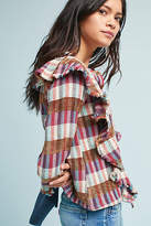 d.RA Kelsey Ruffled Plaid Top
