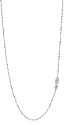 Tiffany & Co. Tag chain necklace in 18k white gold with pave diamonds