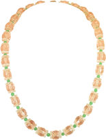 One Kings Lane Vintage Czech Peach Crystal Necklace