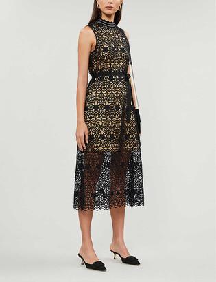 Claudie Pierlot Tikae lace midi dress