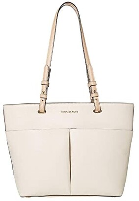 MICHAEL Michael Kors Bedford Medium Top Zip Pocket Tote (Light Cream) Tote Handbags