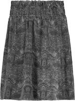 IRO Aldora printed silk mini skirt