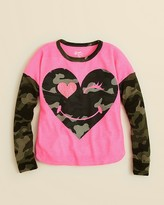 Flowers by Zoe Girls' Camouflage Heart Shirt - Sizes 4-6X