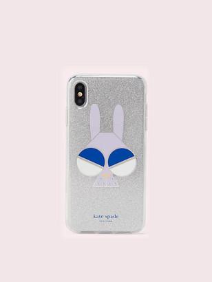 Kate Spade Spademals Glitter Bunny Iphone Xs Max Case