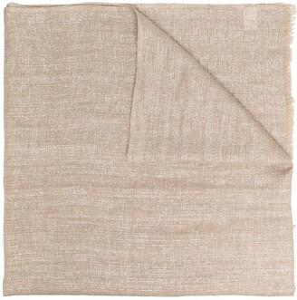 Brunello Cucinelli Metallic Weave Scarf