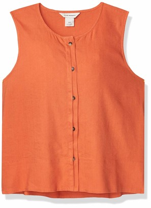 Club Monaco Women's Cropped Button Front Top