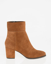 Le Château Suede Round Toe Ankle Boot
