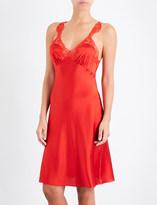 Stella McCartney Eloise Enchanting satin and lace chemise