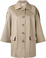 RED Valentino classic short trench coat - women - Cotton/Spandex/Elastane - 40