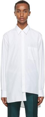Lanvin White and Blue Asymmetric Shirt