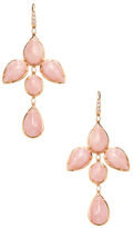 Rina Limor Fine Jewelry 18K Rose Gold, Pink Opal & 0.33 Total Ct. Diamond Chandelier Earrings
