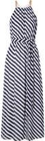 MICHAEL Michael Kors Chain-embellished Striped Chiffon Maxi Dress