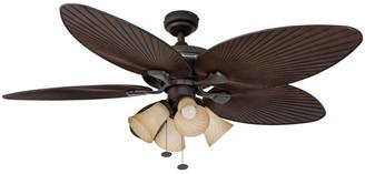 "Honeywell 52"" Palm Island Bronze Ceiling Fan with 4 Light"