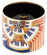 Hermes Mega Wide Printed Enamel Bracelet