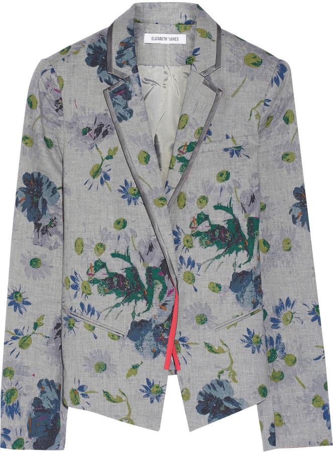 Elizabeth and James Bourne floral-print cotton blazer